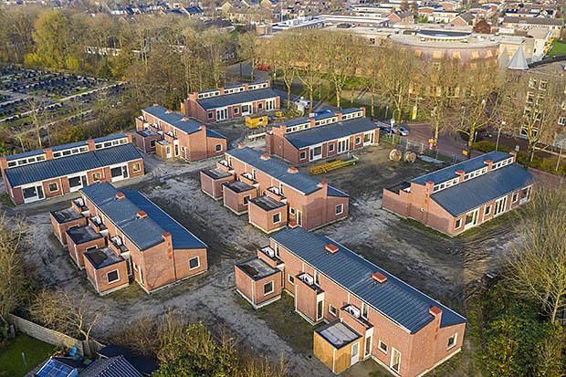 woonwijk vanuit de lucht